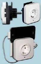 dugalj 2db USB aljzattal,  túlfeszültség levezetővel